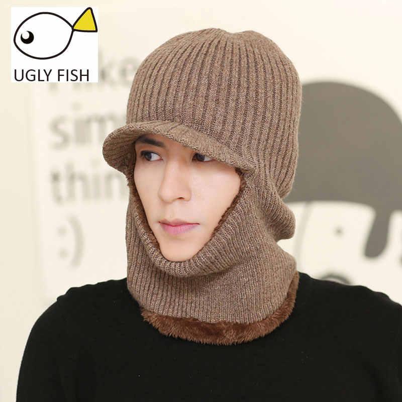 fde6997b1 skull mask balaclava face mask winter hats for women men knitted cap neck  warmer Caps Winter Hats For Men Women Beanie Fur Warm