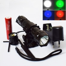 WF-501B Tactical LED Flashlight CREE XM-L T6 2000 Lumens ON-OFF Mode Hunting Light With Gun Mount and Remote Pressure Switch