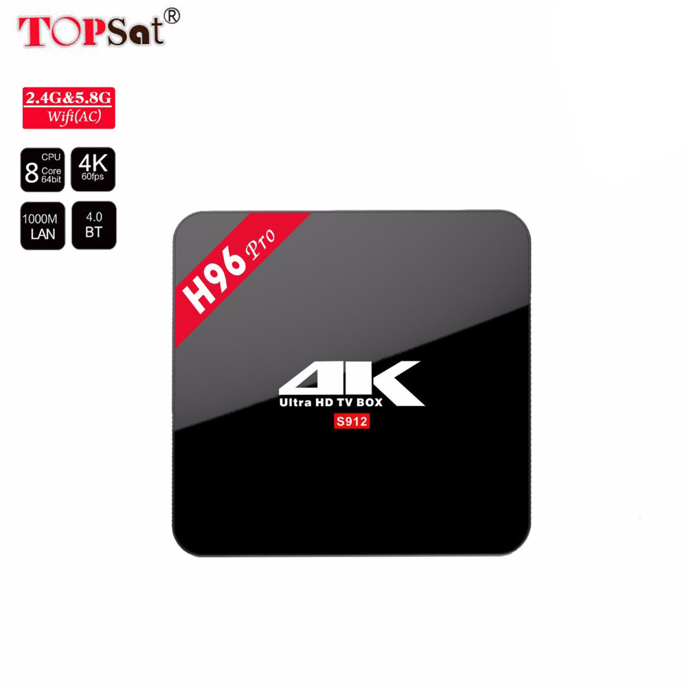 H96 Pro Smart Android 7.1 TV Box 3GB 16GB dual band 5.8G wifi Set top box TV receiver BT4.0 media player 4K HD android tv box