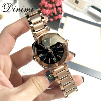 Dimini Stainless Steel Women Watches Fashion Luxury Lady Watch Gold Quartz Wrist Watch Ladies Watches Gifts Present Dropshipping