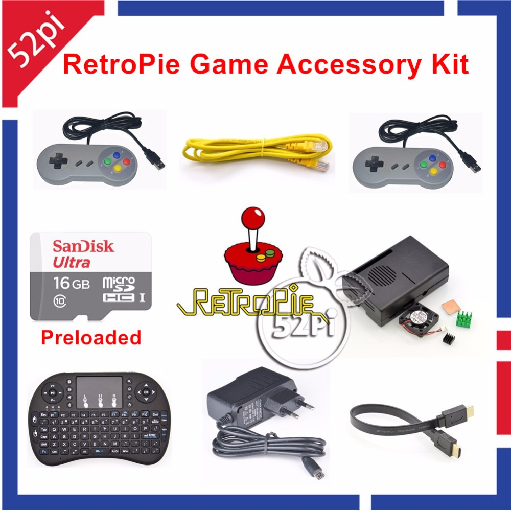 font b Raspberry b font Pi 3 Model B 16GB Preloaded RetroPie Game Console Accessories