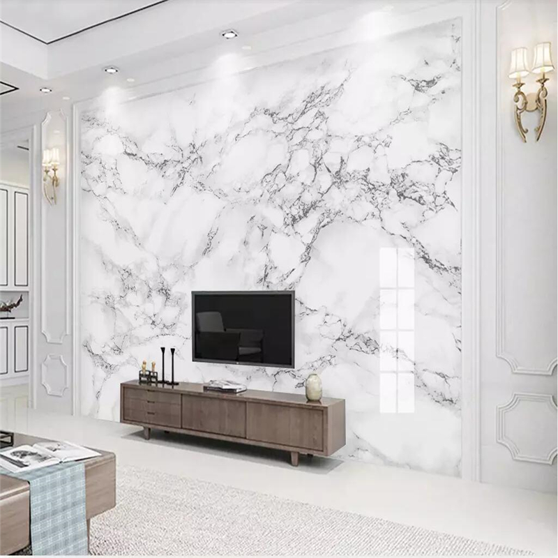 Beibehang 3d Wallpaper Custom Wallpaper Mural Modern Minimalist Jazz White Marble Wall Papers Home Decor Papel De Parede