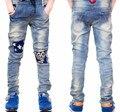 Новый Розничные Детей Джинсы Мальчиков Брюки 2016 Весна Осень Дизайн детская Одежда Золотая Звезда Джинсы Мальчик Брюки Моды Детей носит