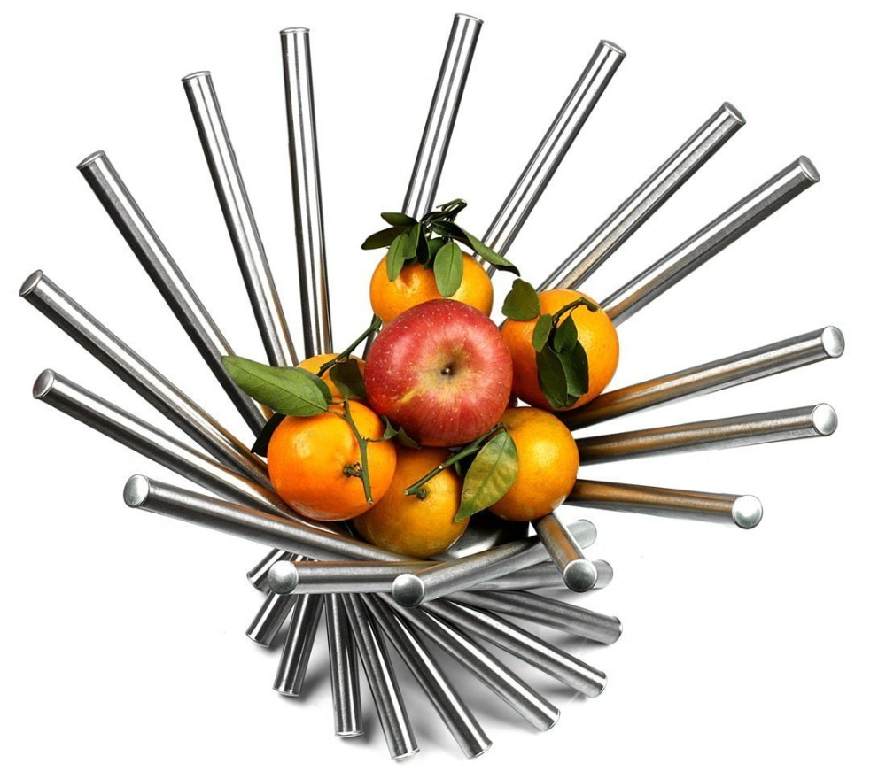 Spiral Stainless Steel Fruit Basket