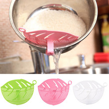 1PC Durable Clean Leaf Shape Rice Wash Sieve Cleaning Gadget Kitchen Clips Tools Well designed constructed Tool