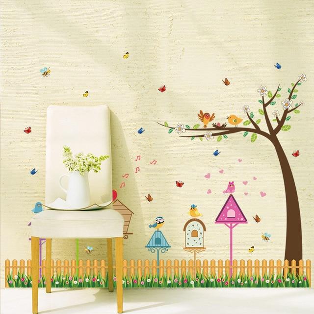 Cartoon Decorative Wallpaper Stickers DIY Decals Glass Wall ...