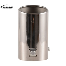 Outside Diameter 7 4cm Universal Fits Car Stainless Steel Chrome Round Tail Muffler Tip Pipe Automobile