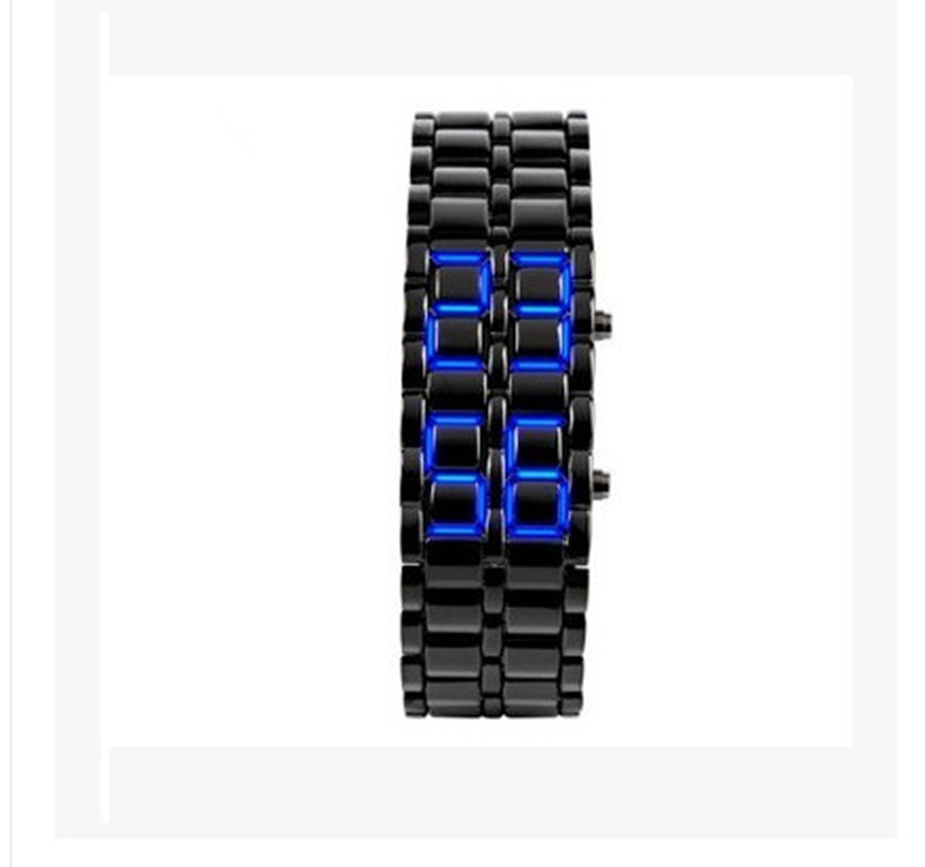 Classic Style Electronic Watch, LED Mirror Watch Lava Led Watch Environmental Protection Technology Silica Gel