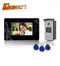 Hghomeart дома вилла семь-дюймовый цветной видео звонок Ночной прицел/салфетки карты разблокирована/ можно вытянуть на один или два