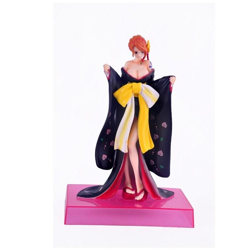 17CM One Piece kimono Nami Toy PVC Anime Figure Nami Sexy Model Action Figures Doll Decoration Men Gift Z128 free shipping anime 8 7 one piece p o p pop nami after 2 years sexy boxed pvc action figure collection model toy gift opfg035