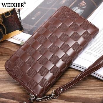 2019 New Fashion Wallet Men PU Leather Men Wallets Business Brand Card holder Coin Purse Men's Long Zipper Wallet Leather Clutch цена 2017