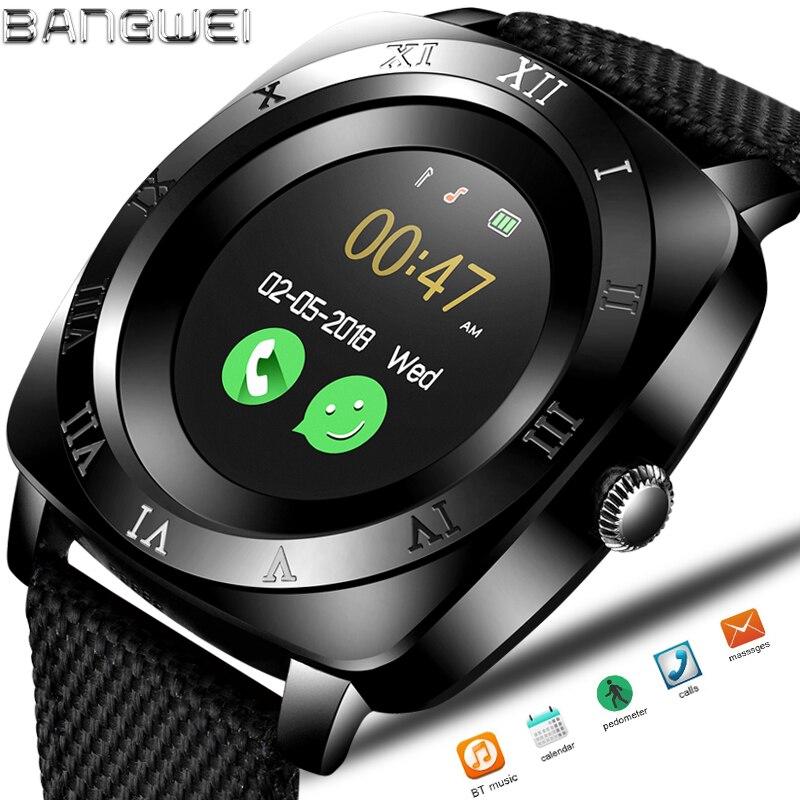 2018 BNAGWEI Smart Orologio Pedometro Fitness Orologio Della Macchina Fotografica SIM Card del telefono Smartwatch Lettore Mp3 uomo per IOS Android Watchphone + BOX