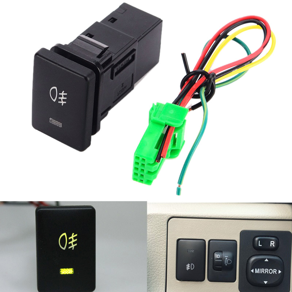 dc12v 4 wire foglight switch fog light button for toyota. Black Bedroom Furniture Sets. Home Design Ideas