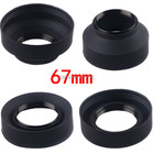67mm 3-Stage 3 in1 Collapsible Rubber Foldable Lens Hood 67mm DSIR Lens for Canon Nikon camera