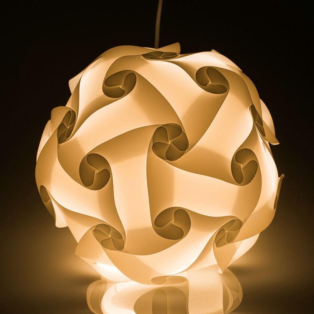 Novelty DIY IQ Puzzle Pendant Light Paper Lampshade With Power Cord and E27 <font><b>Holder</b></font> Restaurant Ceiling Lamp Hanging Lighting image