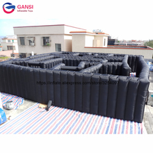 10*10*1.8m laser tag inflatable laser maze for amusement park free air blower high quality inflatable maze for interactive game inflatable biggors large outdoor sports games inflatable haunted maze inflatable maze for rental