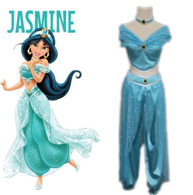 Jasmim de Aladdin Princesa Adulto Crianças Dança Do Ventre Traje Cosplay Nova