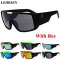 Con caja de La Marca de Moda gafas de Sol de Los Hombres/de Las Mujeres de La Vendimia UV400 gafas de Sol Al Aire Libre Deportes Gafas gafas de sol Oculos feminino