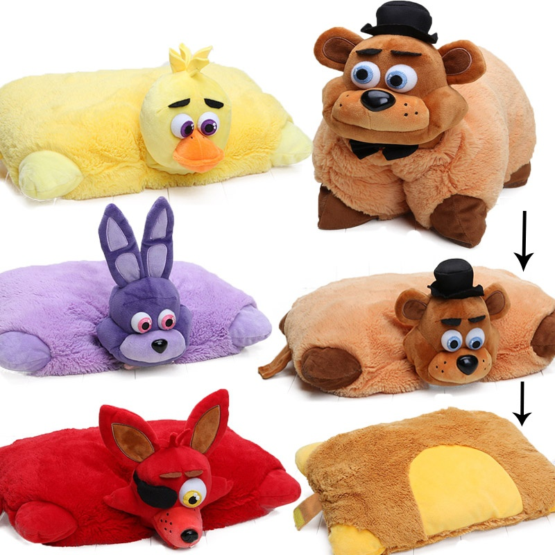 FNAF 43cm*30cm Five Nights At Freddy's Pillow Mangle Foxy Chica Bonnie Golden Freddy Fazbear Plush Toys Car Cushion Juguetes