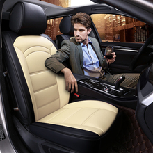 Brand New Car Seat Cushion Luxury Pu Leather Seats Covers 4 Seasons Artificial