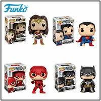 FUNKO POP Official 1pcs Justice League DC Batman Superman Wonder Woman The Flash Vinyl Doll Model Collection Gift For Movie Fans