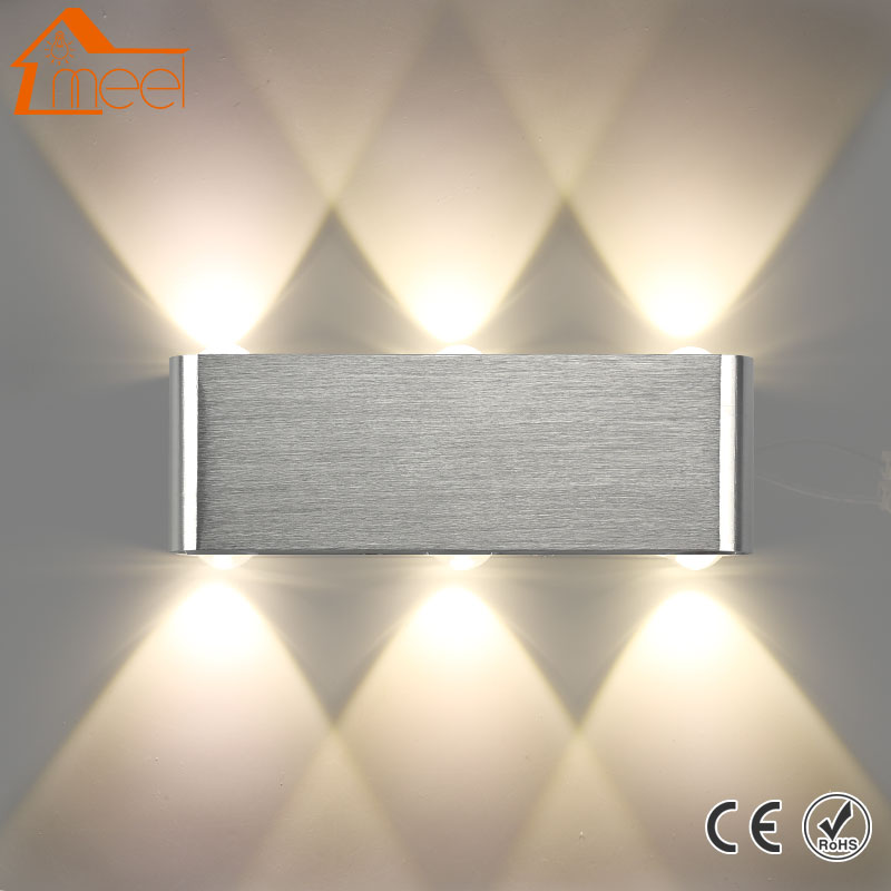 Led Wall Lamp 2W 4W 6W 8W Modern Sconce Stair Light 110V 220V Aluminum Decorate Wall Sconce Living Room Bedroom Indoor Lighting