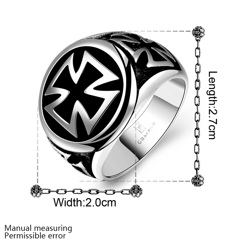 FWORLD Order of the Temple vintage cross Knights Templar rings for ...