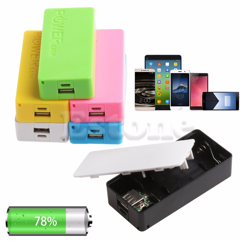 OOTDTY 5600mAh 5V USB Power Bank Case 18650 Battery Charger DIY CASE For Cell Phone-M56