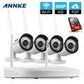 Annke 960 p 4ch nvr wifi vigilancia kit plug and play Sistema de Visión Nocturna de Seguridad CCTV HD de 1.3MP Wireless Impermeable Al Aire Libre 1 T