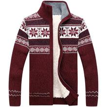 3xl Large Size Thick Fleece Pullover Men Cotton Top Wear With Fashion Knitted Sweater Men Pull Homme Jersey Hombre