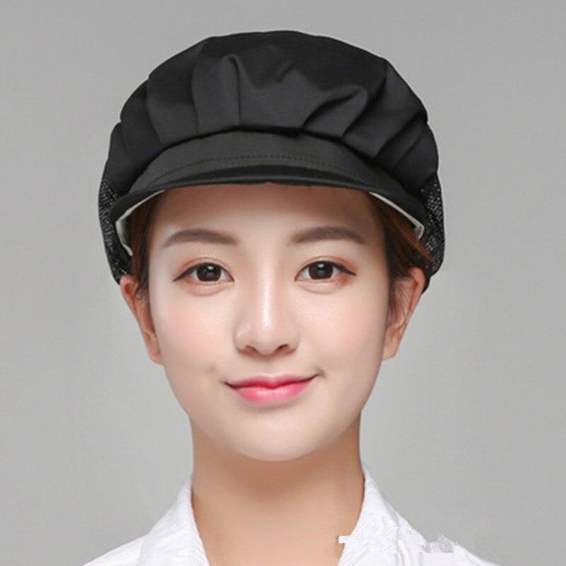 Women Cook Cap Men Kitchen Baker Chef Elastic Cap Dustproof Hat Catering Work Wear & Uniforms Accessories YLM9774