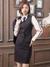 Fibra de alta Qualidade-Mulheres de Negócio Ternos com 2 Peça Saia e  Conjuntos de Top Vest   Colete Senhoras Escritório Desgaste. c755a0b78356c