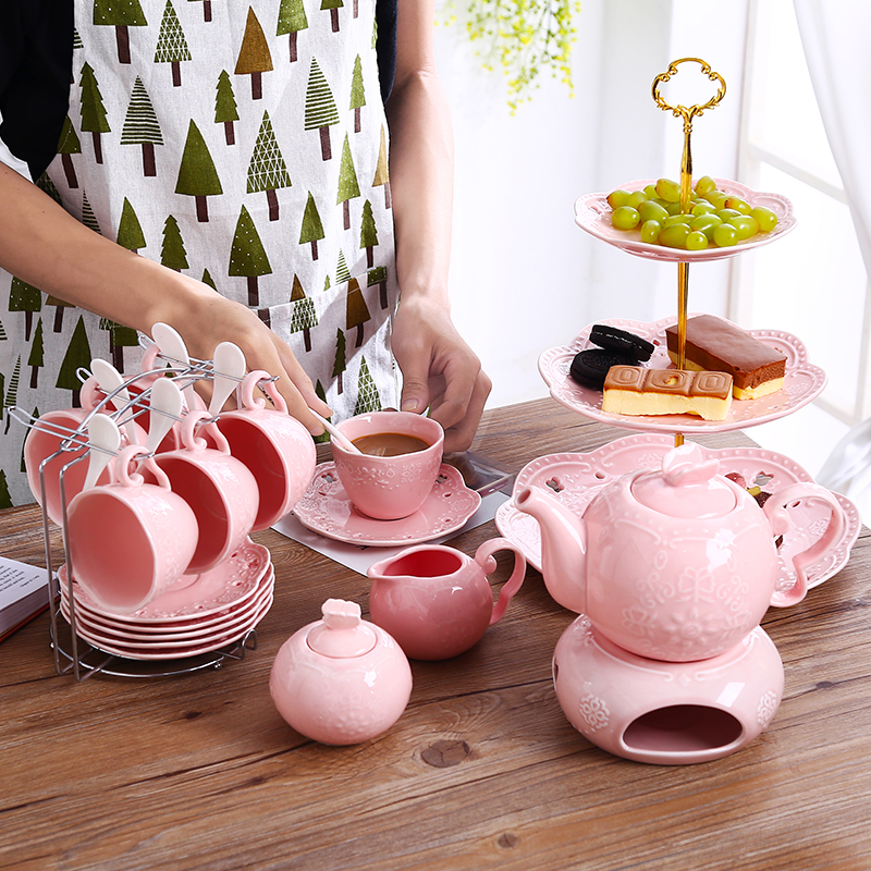 XING KILO Ceramic coffee cup set simple afternoon tea tea creative home water cup with a spoon