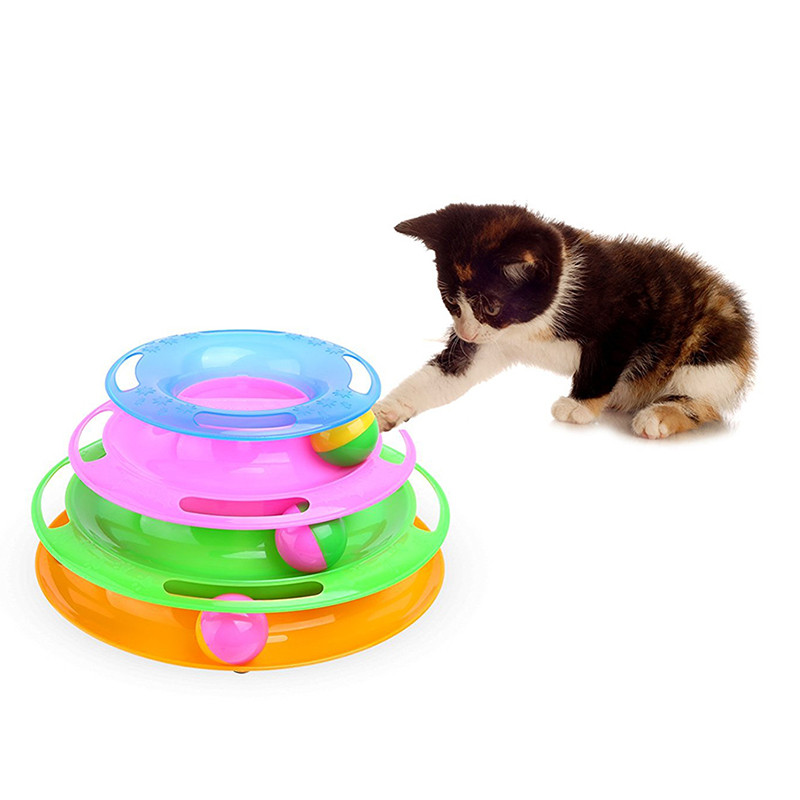 Home & Garden United High Quality Cat Training Single-layer Amusement Plate Mouse Spring Toys For Pets Cats Turntable Interactive Toys Cat Supplies