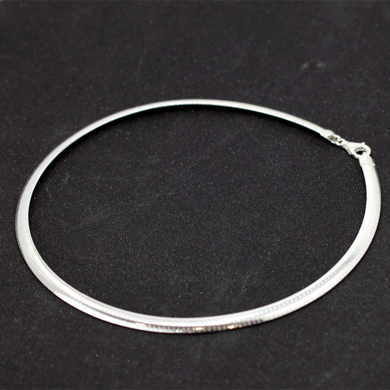 Character silver goods fashion boutique S925 pure silver technology sautoir collar ms version 6 m wide