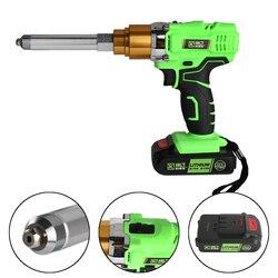 Soporte de pistola de remachador eléctrico recargable inalámbrico portátil de 26v 3000mAh 2,4mm 3,2mm 4,0mm 4,8mm 5,0mm remache con luz LED