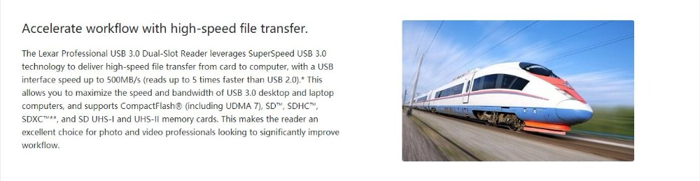 Lexar Professional USB 3.0 Dual-Slot Reader 2