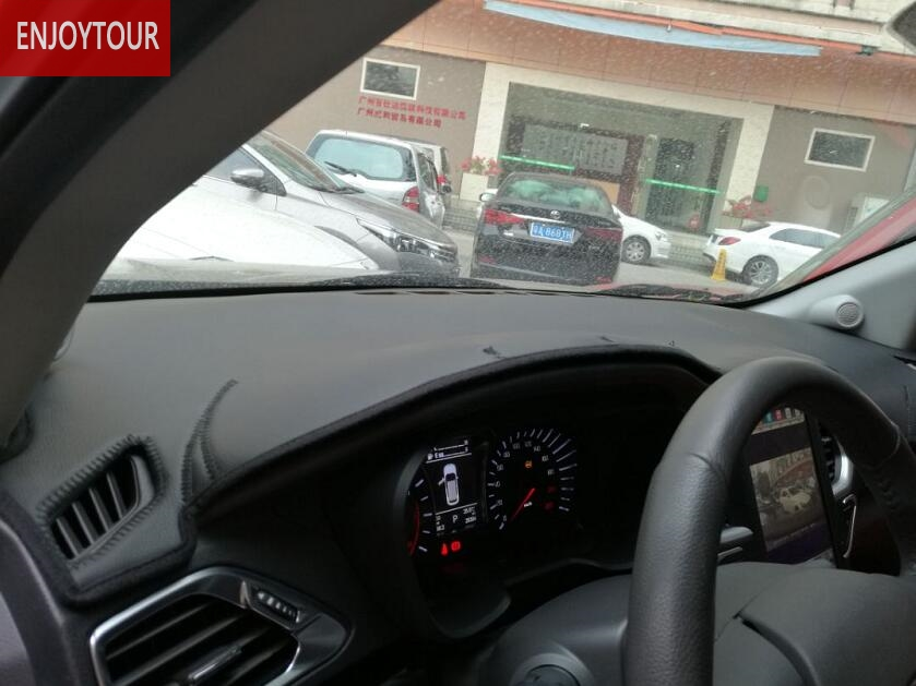 Pu En Cuir De Voiture Dashmats Couverture De Tableau de Bord pour Mitsubishi Montero Pajero Shogun v97 v93 Outlander Sport asx RVR Lancer ex