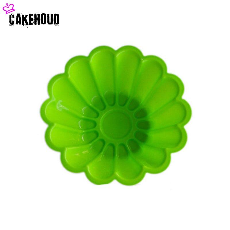CKEHOUD 8inch silikon Fransız Çiçək Şifon Tort qəlib Pişirmə - Mətbəx, yemək otağı və barı - Fotoqrafiya 5