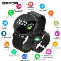 Bluetooth relógio inteligente monitor de sono freqüência cardíaca fitness rastreador banda pressão arterial tela colorida à prova dwaterproof água relógio esporte caloria|Relógios mecânicos| |  -