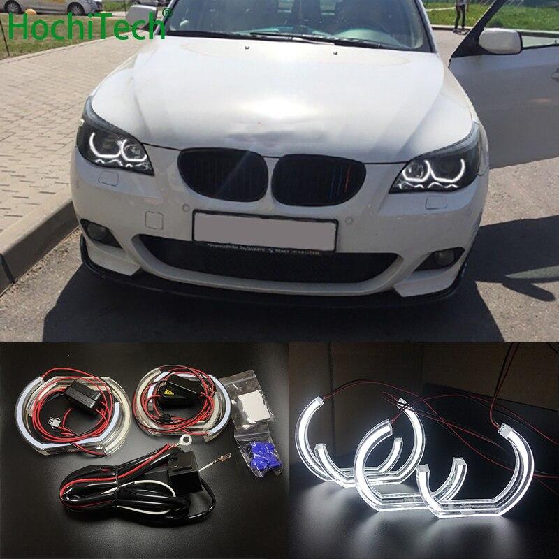 Pour BMW 5 SÉRIE E60 E61 LCI M5 2007-2010 xénon Haute Qualité DTM Style Blanc Cristal LED ange yeux Jour lumière DRL