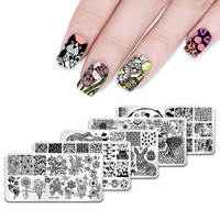 UR SUGAR 1 Pc Easter Flower Animal Pattern Stamping Template Geometry Peacock Nail Plate Printer Nail Image Plate