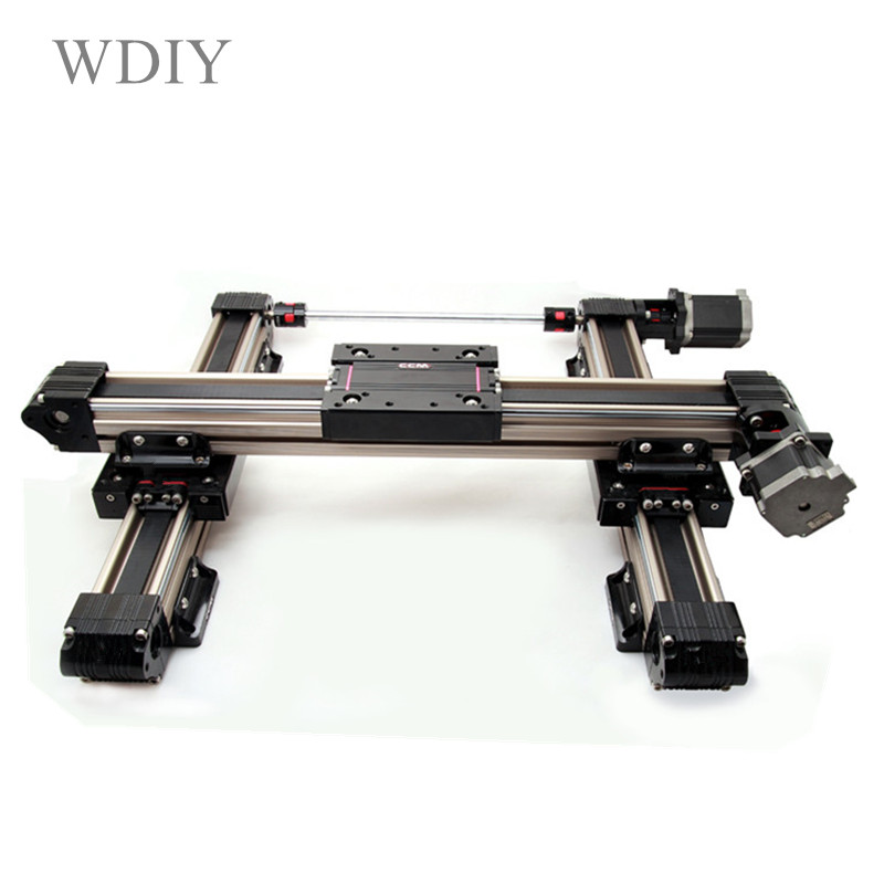 Mechanical arm of industrial mechanical arm, XYZ tri-axis slide track cartesian robot stepping servo sliding table ...