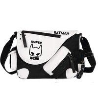 Super Herói Em Quadrinhos saco Do Mensageiro Da Bolsa Das Mulheres Dos Homens Meninos Meninas Bat Homem De Ferro Impressão Ombro Saco de Escola Sacos de Livro