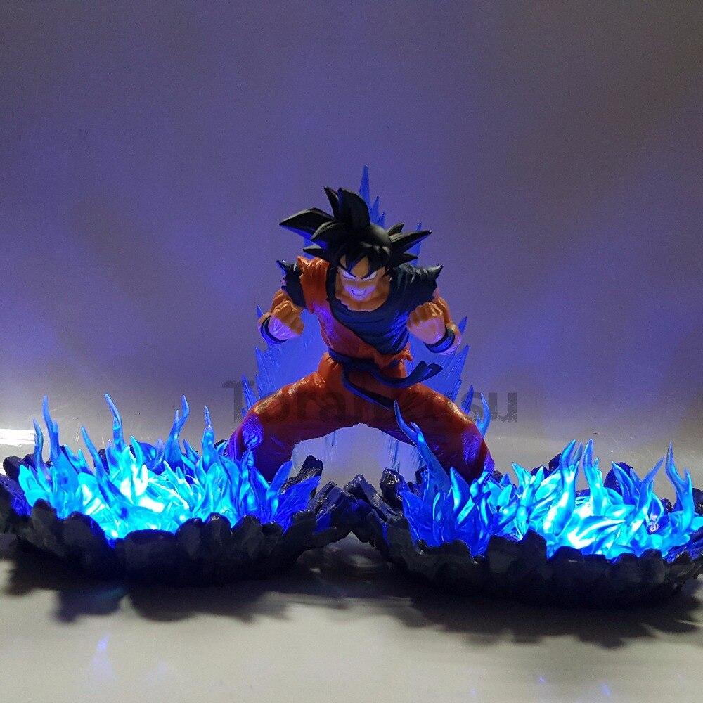 Dragon Ball Z figurines Goku Super Saiyan dieu lumière bleue LED Anime Dragon Ball Super fils Goku Figurine DBZ jouet