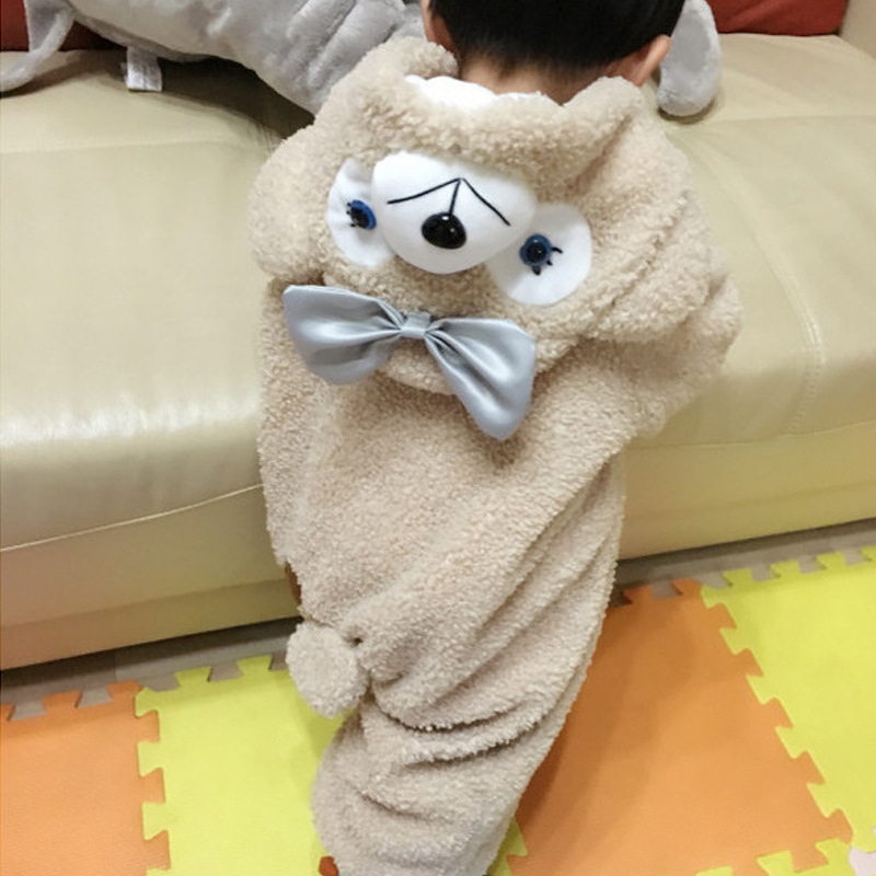 2017 Brand Designer Autumn Winter Baby children Blanket Sleepers Soft Flannel Boys Girls Hooded Romper Children Sleepwear A84 27