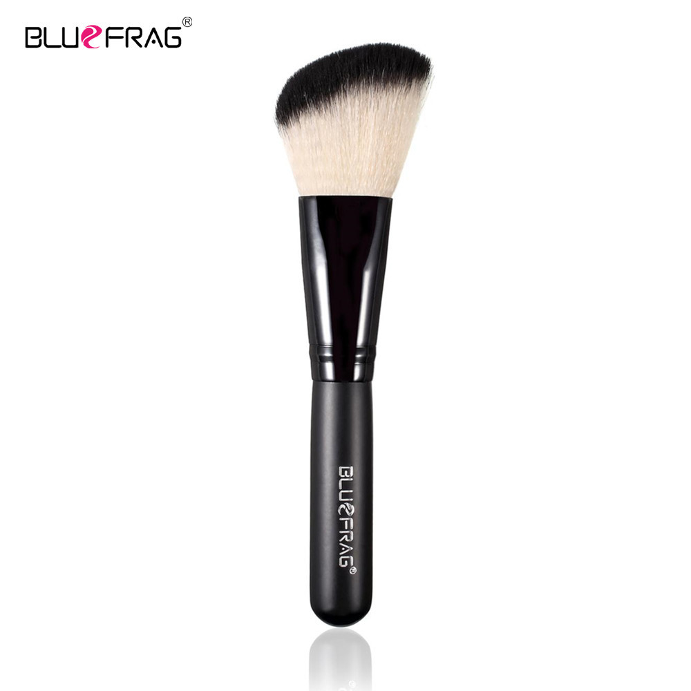 BLUEFRAG Beveled Makeup Blush Brush Soft Foundation Powder Shadow Highlight Contour Blusher Cosmetic Blending Pro Beauty Tool bluefrag highlighter makeup brush flawless face brush multipurpose powder foundation blush blbr0132