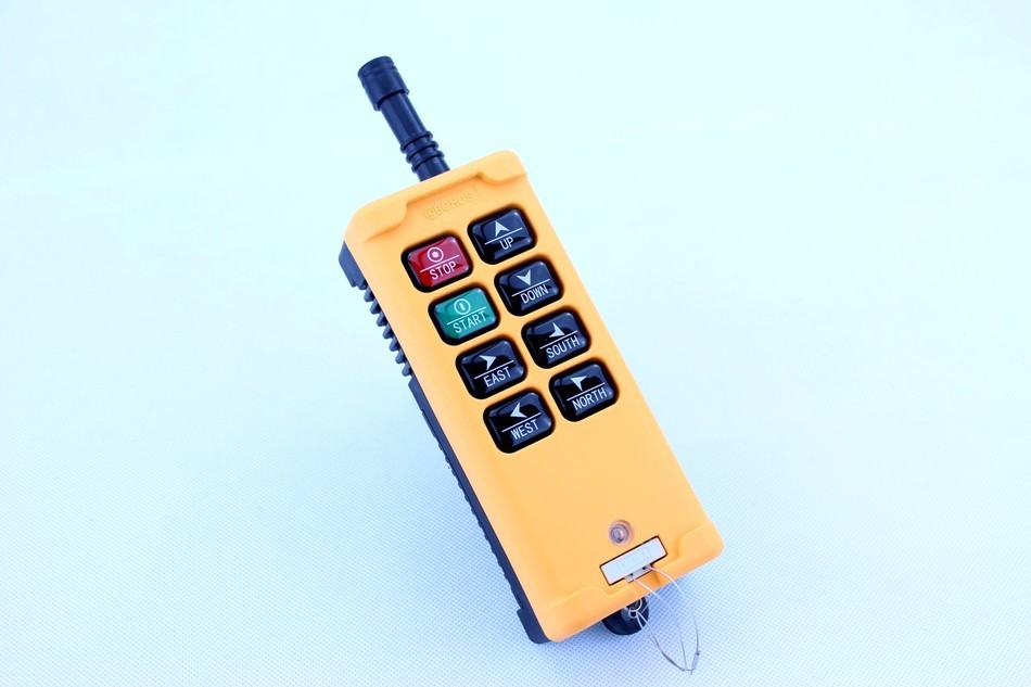 New Arrivals crane industrial remote control HS-8 wireless transmitter push button switch China ac65 440v industrial remote control wireless hoist crane remote control switch 1 receiver and 1 transmitter push button switch