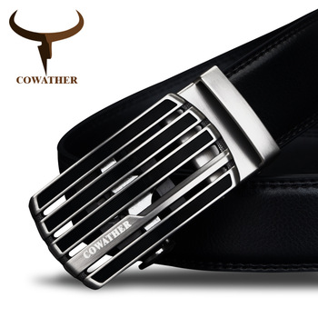 COWATHER New design cow genuine leather strap male belt automatic buckle belts for men fashion style waistband original brand