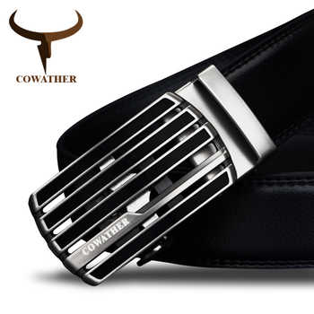 COWATHER New design cow genuine leather strap male belt automatic buckle belts for men fashion style waistband original brand - DISCOUNT ITEM  50% OFF All Category